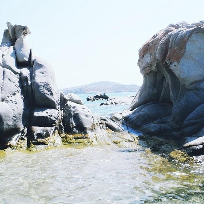 Jelena Zivanovic Instagram @lelazivanovic.Glam fab week.Kolimbithres beach,Paros island,Greece.