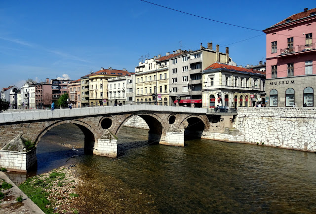 The Latin Bridge, where the assassination of Archduke Franz Ferdinand took place which triggered World War I
