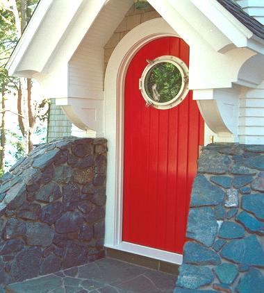 nautical door with porthole