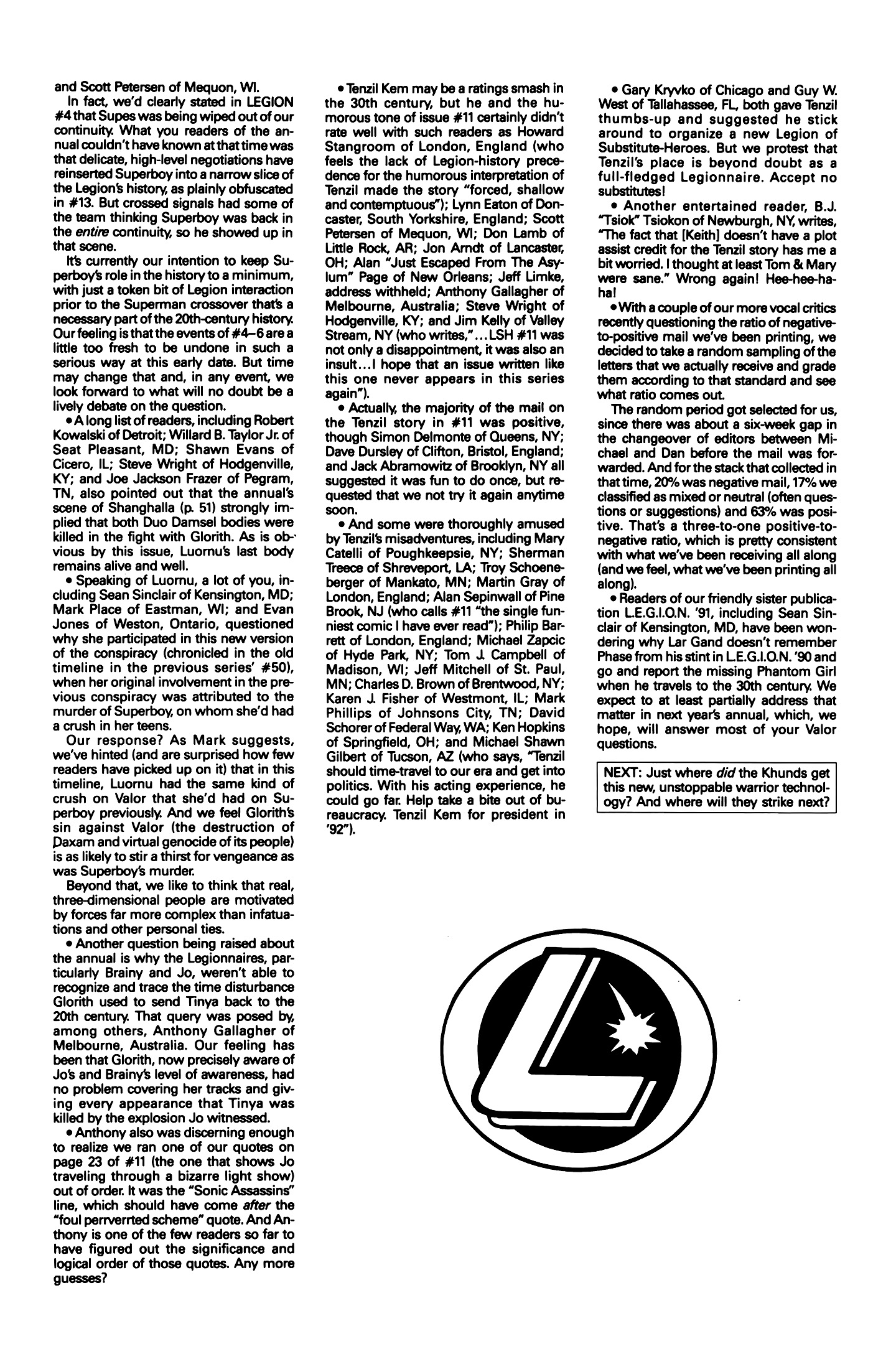 Legion of Super-Heroes (1989) 15 Page 27