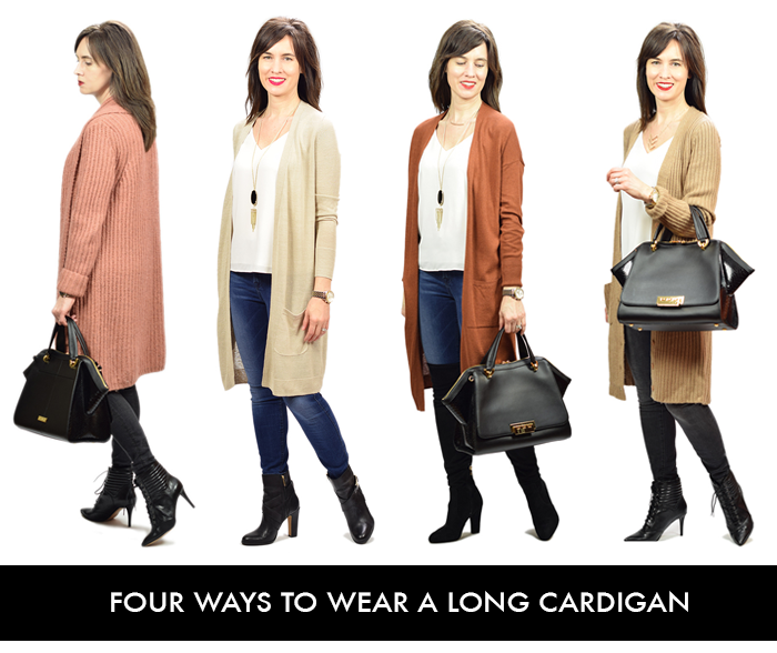 Daily Style Finds: four ways to wear a long cardigan