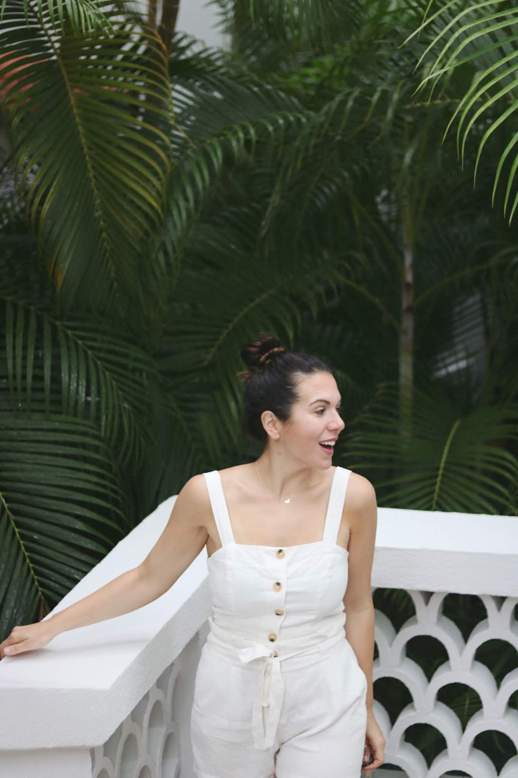 Dynamite linen two piece crop top travel outfit aleesha harris one&only palmilla resort