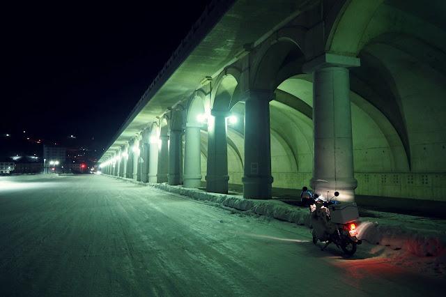 真冬の北防波堤ドーム
