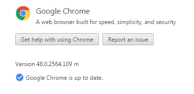 Google Chrome 48.0.2564.109 Standalone
