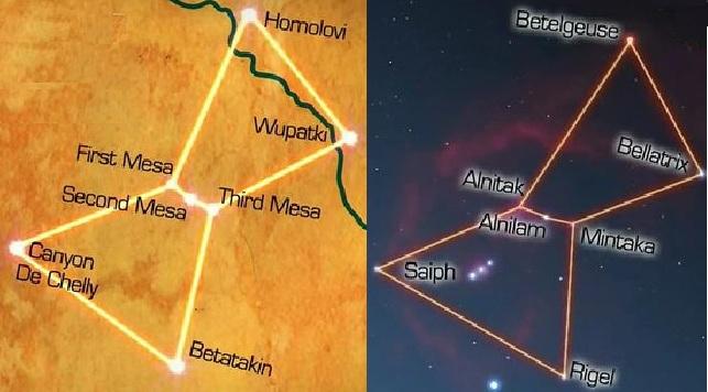 Las tres Hopi Mesas están perfectamente alineadas con la constelación de Orión