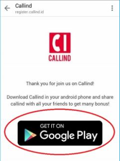 download aplikasi callind di Android