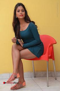 Telugu Actress Prasanthi Stills in Green Short Dress at Swachh Hyderabad Cricket Press Meet  0086.JPG