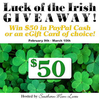 Enter the $50 Luck of the Irish Giveaway Event. Ends 3/10