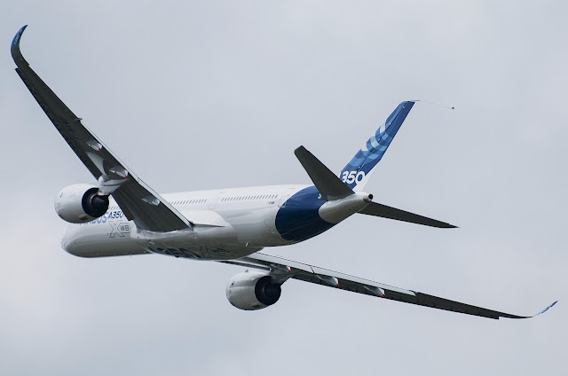 Airbus A350 XWB While on Rolling Maneuver