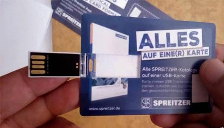 إثبات وصول مفتاح USB بمساحة 8 جيجابايت على شكل بطاقة من موقع ألماني مجانا إلى غاية باب المنزل