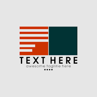 Two Box Striped Logo Template Free Download Vector CDR, AI, EPS and PNG Formats