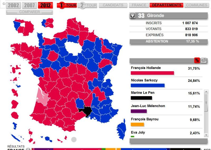 Map Of France Voting.Venezuela News And Views France A More Undecided Result
