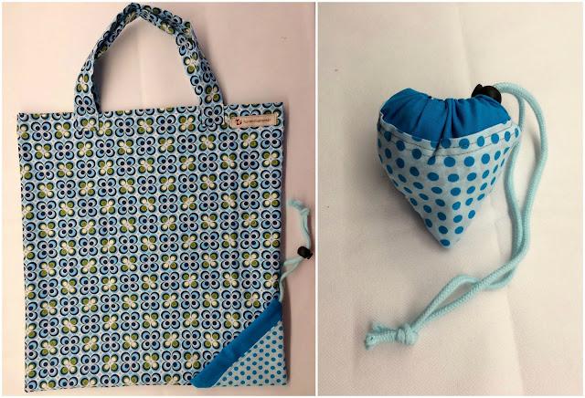 Tasche in der Tasche, Anleitung, Baumwolle, nähen, Falltasche
