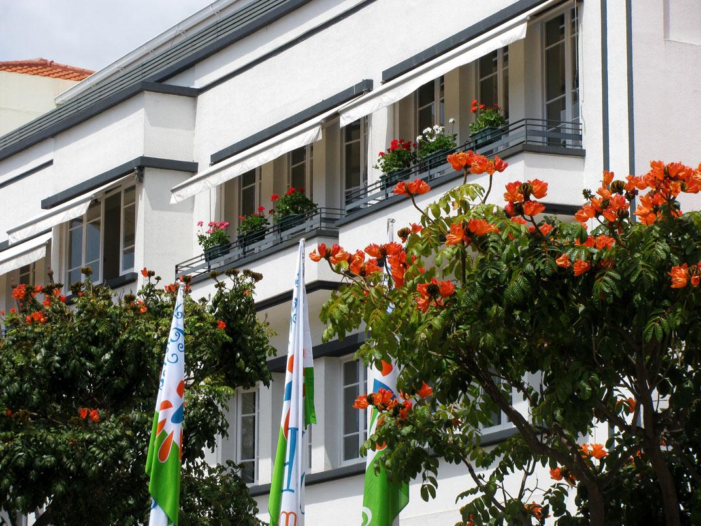 flowered balcony