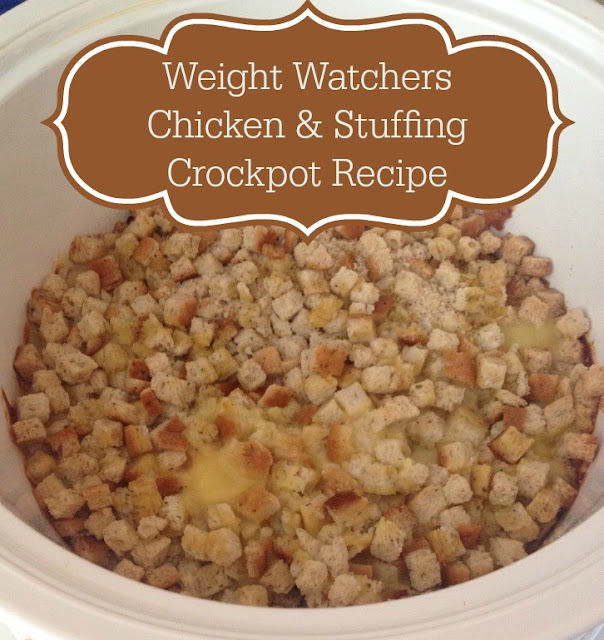 Weight Watchers Crockpot Chicken and Stuffing #weightwatchersrecipe