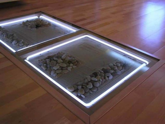 Best Part Of Glass Flooring With Pebbles Is The Light If Your Install Under It Does Reflects And Illuminates A Dark Room As Well