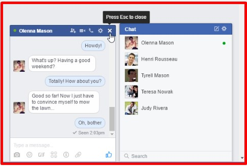 how to chat on facebook and be offline