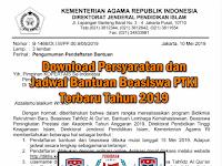 Download Persyaratan dan Jadwal Bantuan Beasiswa PTKI Terbaru Tahun 2019