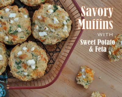Savory Muffins with Sweet Potato & Feta
