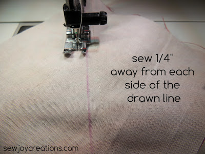 sewing away from cut line on hsts