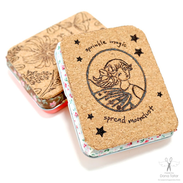 Sprinkle Magic Fairy Burned Cork Gift Card Tin