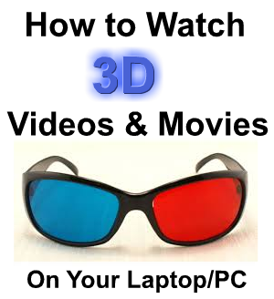 How to Watch 3D Movies & Videos on Your Laptop/PC/TV With Polarized Glasses