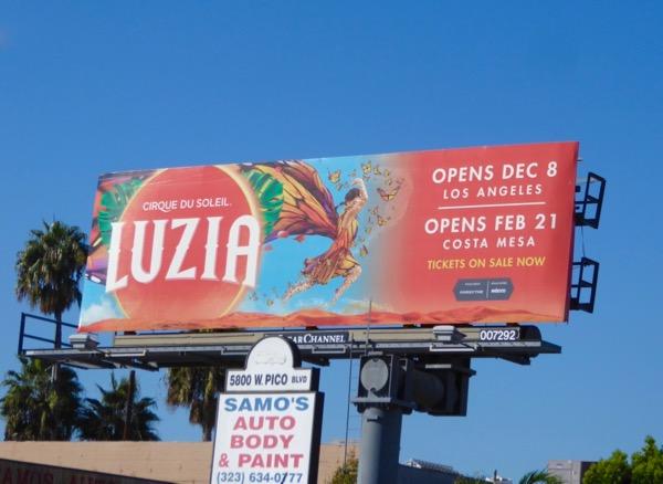Cirque du Soleil Luzia billboard