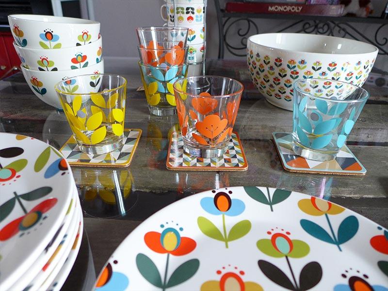 vaisselle vintage à fleurs de maison du monde