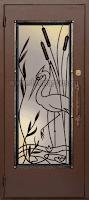 """Дверь с ковкой """"Цапля"""""""