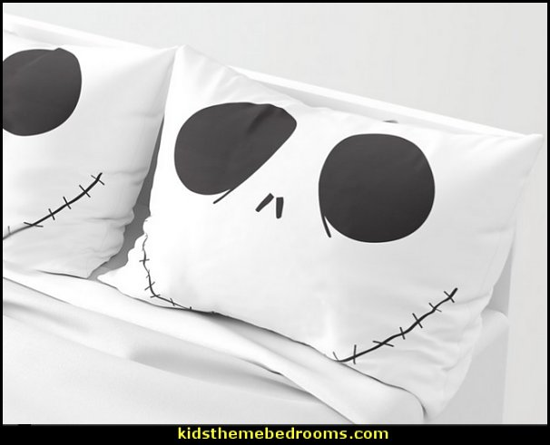 Jack Skellington Halloween Pillow Sham  Nightmare Before Christmas theme bedroom decorating ideas - jack skellington decor - Nightmare Before Christmas Bedroom Decor -  Jack skellington Sally the nightmare before Christmas - Nightmare Before Christmas  bedding - Halloween - Tim Burton - Sally Nightmare Before Christmas bedroom