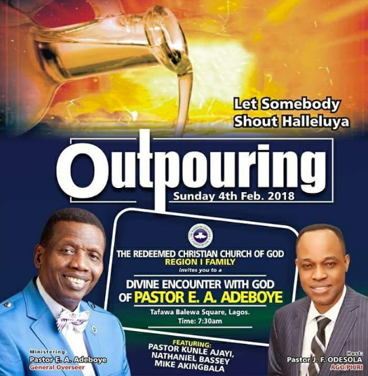 outpouring 2018 rccg lagos