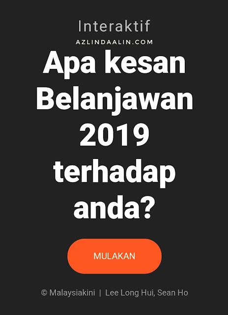 KESIMPULAN DARI BELANJAWAN BAJET 2019 MALAYSIA BUAT KELUARGA KAMI