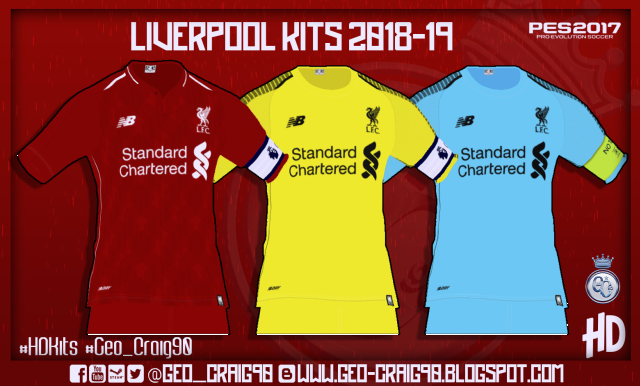 PES 2017 Liverpool Full Kits [ Beta Version ] 2018-2019 By Geo-Craig90