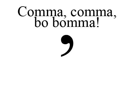 Jo Michaels Blog: Comma Part 3