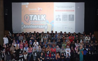 Qtalk Anniversary, Talkshow Strategi Penggunaan Aplikasi Website dalam Pengembangan UMKM di Bandung