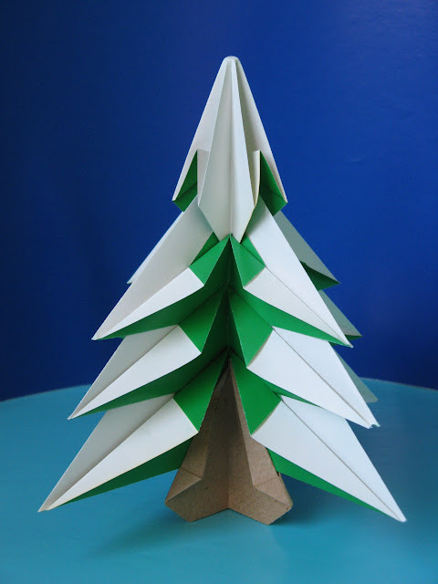 Origami Instructions Diagrams Abete - Fir tree by Francesco Guarnieri