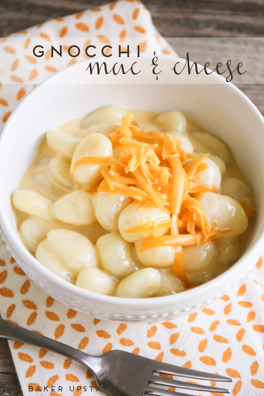 This gnocchi mac and cheese is so quick, cheesy, and delicious!