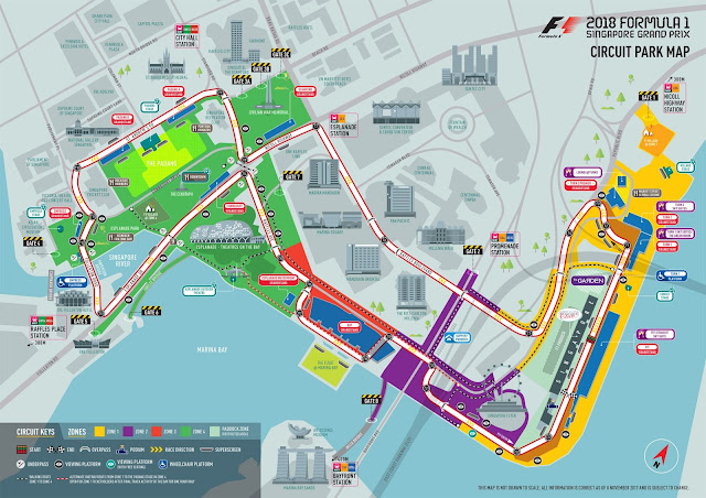 2018 F1 GP Circuit Map - Salika Travel -Early Bird! Singapore F1 GP 2018 - Tickets & Hotels