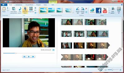 بعض خصائص صانع الأفلام  برنامج windows movie maker