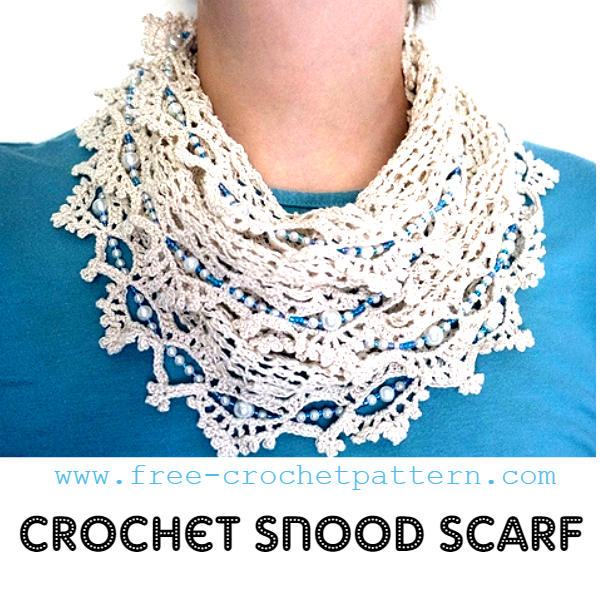 Beautiful Soft Crochet Snood Scarf Free Crochet Patterns