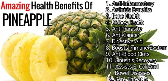 health benefits pineapples