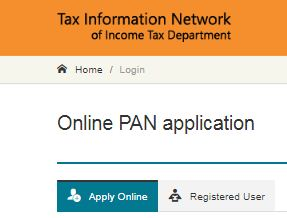PAN - permanant application number online