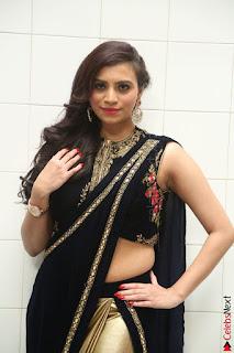 Priyanka Ramana in Beautiful Designer Black Saree At We Craft Elegance Expo Launch 018.JPG