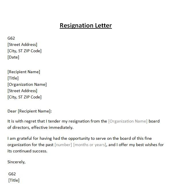 Resigning From A Board Under Fontanacountryinn Com