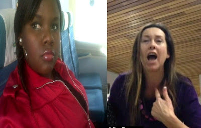 woman arrested racist rants nigerian student