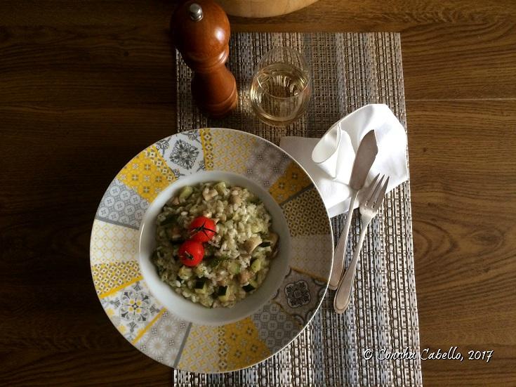 risotto-calabacín-champiñón-mesa