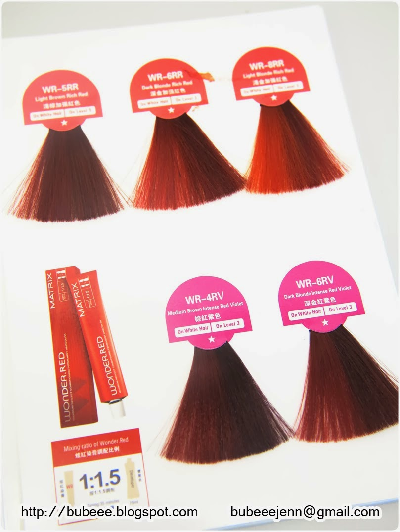 Red Hair Color Chart Matrix Homeschoolingforfree