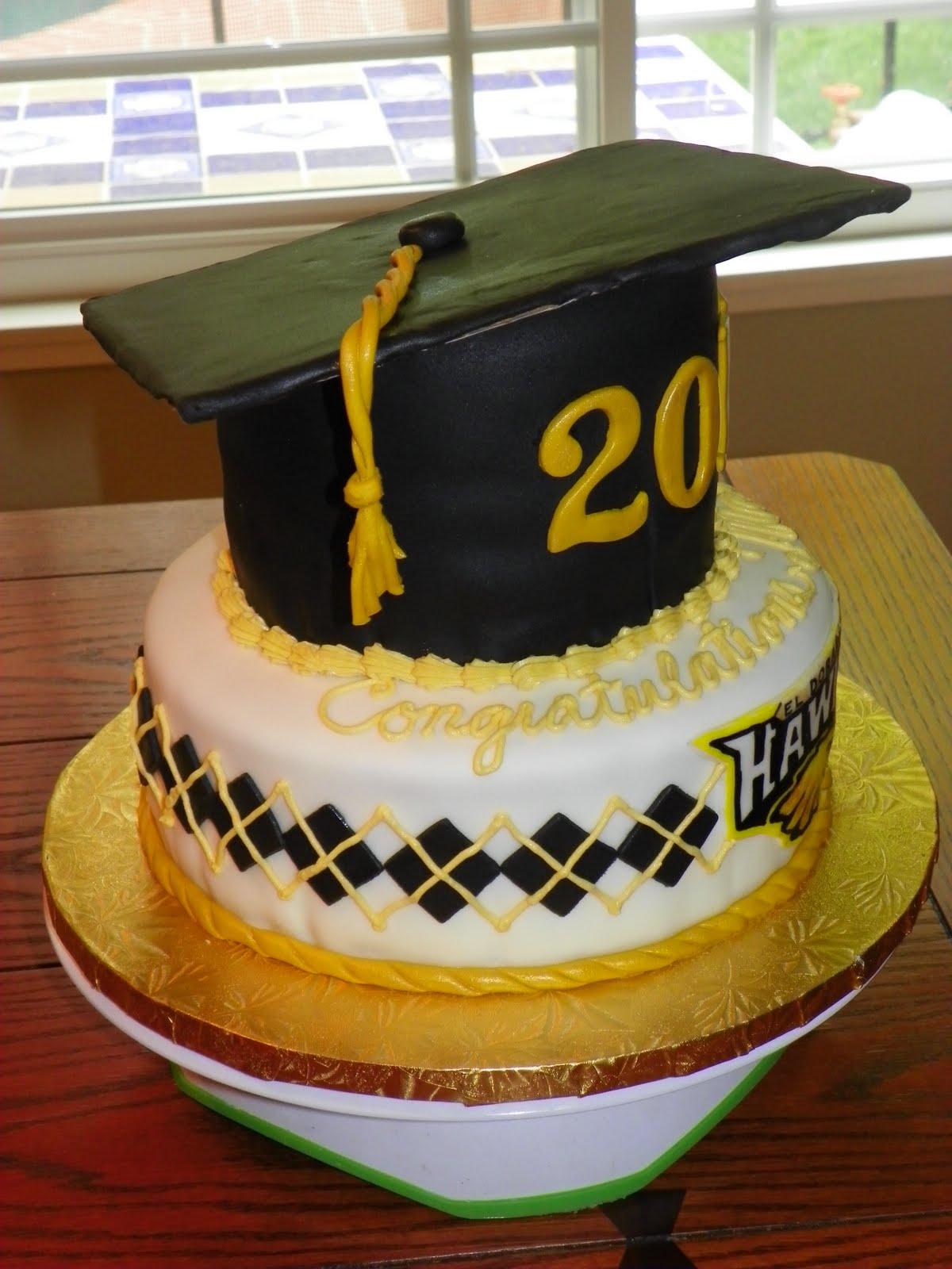 Plumeria Cake Studio: El Dorado High School Graduation Cake