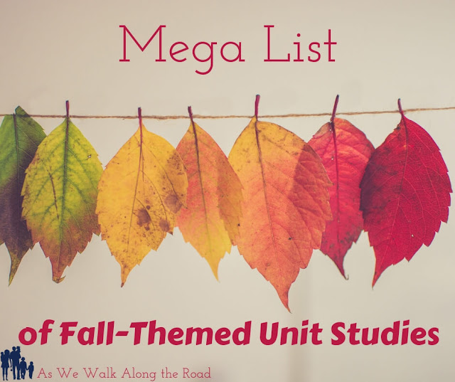 Celebrate fall with this HUGE list of #fall themed #unitstudies. #homeschooling #AsWeWalk