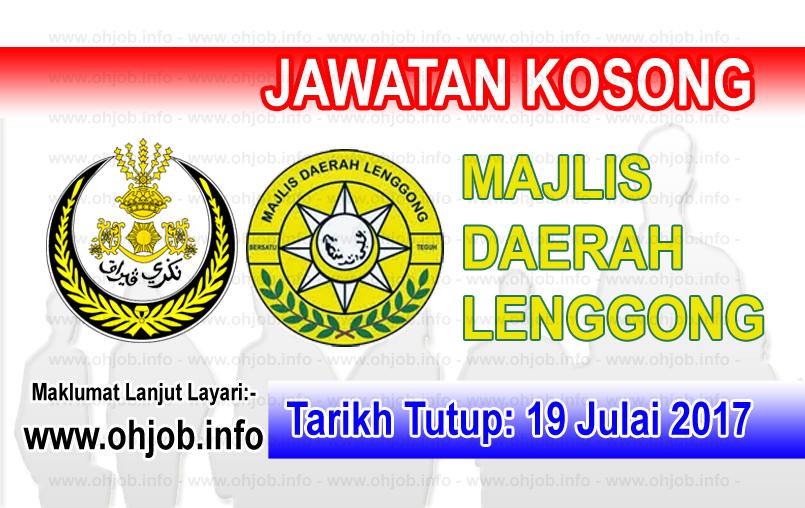 Jawatan Kerja Kosong Majlis Daerah Lenggong - MDLG logo www.ohjob.info julai 2017